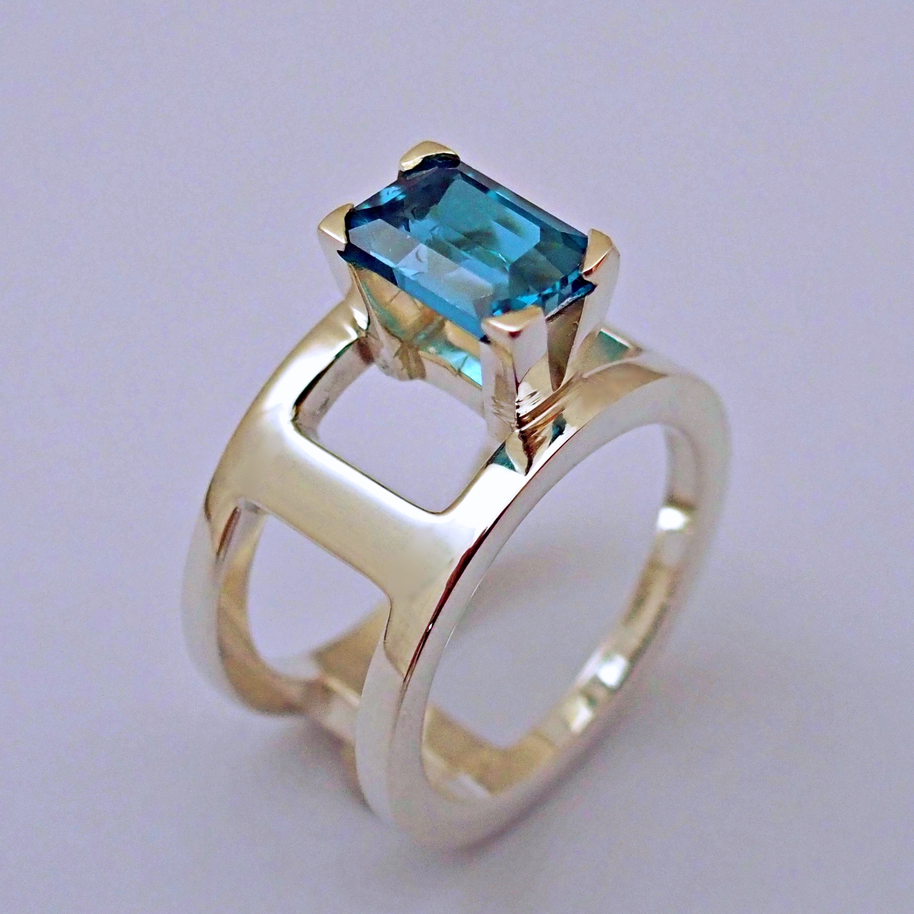 Nancy Allewerelt Fontus Handmade jewelry jewellery Emerald Cut London Topaz